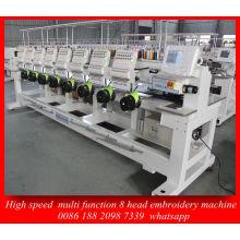 Besten Dahao Control System 8 Kopf High-Speed Computer Stickmaschine für Cap Kleidungsstück Emberoidery Maschine