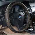 Car Steering Wheel Cover Ecological Leather-Silver