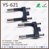 Ys-621 Brazil NBR 2-Pole 10A Plug Insert