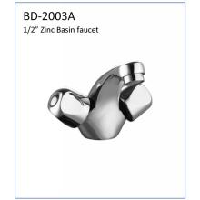 Bd2003D Zinc Body Double Handles Basin Faucet