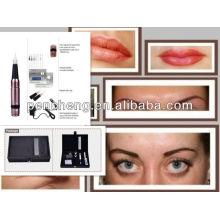 Cepillo de calidad superior de maquillaje permanente / eyeliner / labio tatuaje kit de la máquina