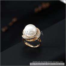 Anillo de bodas de circón perla VAGULA moda (Hlr14172)
