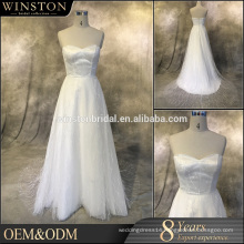 OEM manufacturers v neck wedding dresses royal or cathedral trains