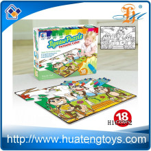 2015 Wholesale Kids play education graffiti puzzle, painting jigsa puzzle toys H162202