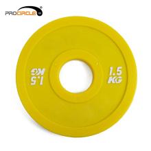 Placas de parachoques de goma de alta calidad que entrenan la placa del peso de goma