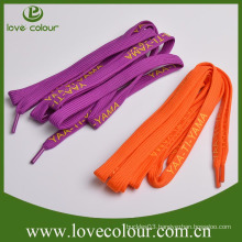 Custom logo shoelaces screen printing shoelace