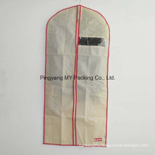 Nonwoven See Through Non-Toxic Suit Cover Garment Bag with Zipper for Promotion