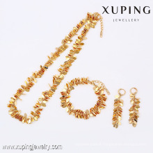 63795- Xuping Hot Selling Gold Plated Fashion Jewelry Set For Women