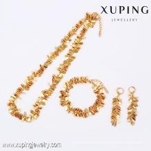 63795- Xuping venda quente banhado a ouro moda jóias conjunto para mulheres