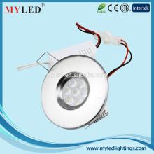 """Ningbo MYLED Acero inoxidable y color blanco 3.5w Ultrathin Empotrado LED Luz de techo 2.5 """""""