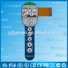 201 new Custom remote control membrane keypad with LED