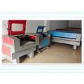 Machine de découpe et de gravure laser à deux têtes pour l'industrie du vêtement