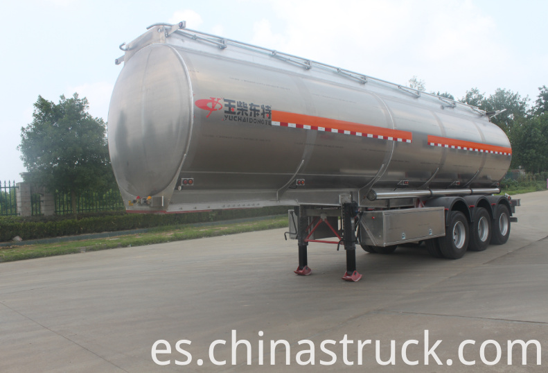 3 axle BPW Aluminum oil tank semi-trailer