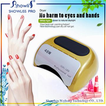 Secador UV do prego da luz da lâmpada 48W da cura do diodo emissor de luz