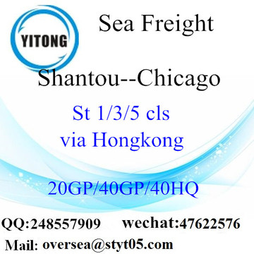 Shantou Port mare che spediscono a Chicago