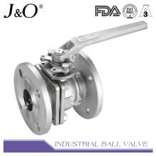 Válvula de esfera de flange com 2PC com almofada de montagem DIN Pn16 Pn40