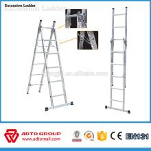 Escalera de extensión de aluminio, escalera plegable de aluminio, escaleras de extensión de aluminio de 6 m