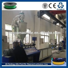 Customized pla abs plastic filament extrusion line