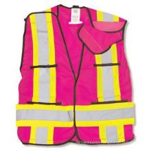 Pink 100% Polyester Soft Mesh Safety Vest