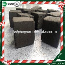 Schwarzer quadratischer Würfel 25mm Kokosnuss Shisha Holzkohle für Shisha Lounge