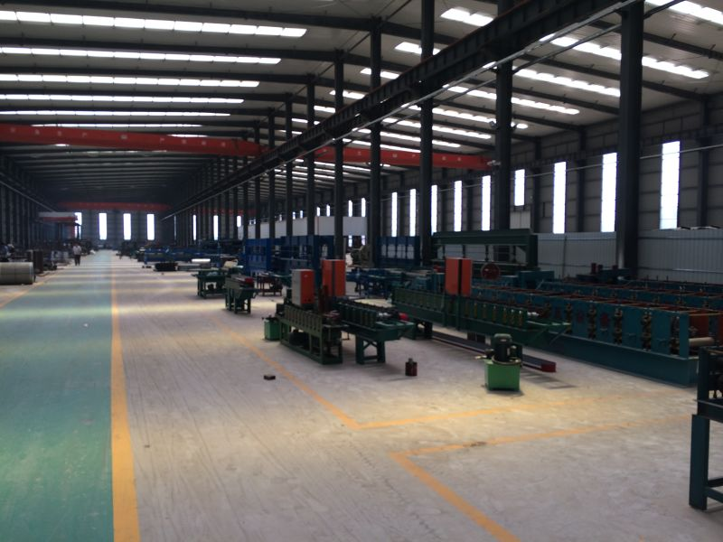 Workshop With Roll Forming Machine