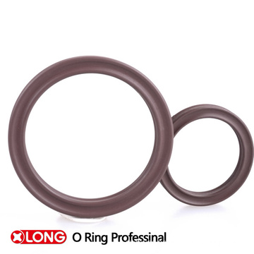 Customized FKM 75 Brown Rubber X/ Quad Ring