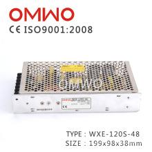 Wxe-120s-48 Única Saída 120 W 48 V AC para DC Fonte de Alimentação de Comutação
