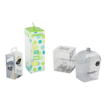 Customized rectangle pvc printed plastic box