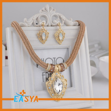 Long Chain Jewelry Set Bridal Crystal Jewelry Sets