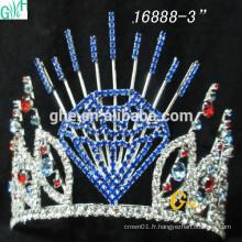 Fashion Bridal Crown Wholesale Pageant Couronnes et belle couronne dirigée