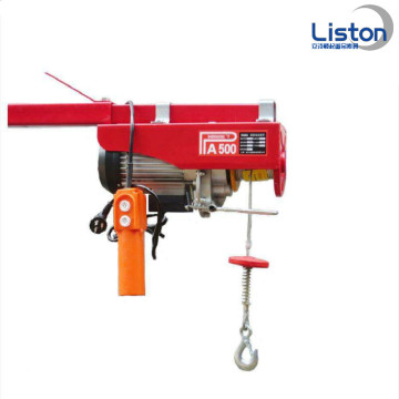 220v Elektrik Hoist Mini wire rope hoist 200kg