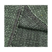 China manufacturer wholesale cotton polyester tc tweed green fabric for female overcoat