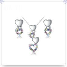 Liga de jóias de cristal acessórios moda jóias conjunto (ajs194)