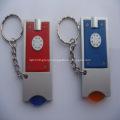 Rectangle Flashlight Key Ring W/ Trolley Coins