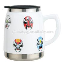 500ML Keramik und Edelstahl-Becher