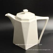 Juego de té blanco de porcelana esmaltado para uso de hotel