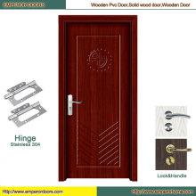 Porte en bois principale de PVC de porte de PVC de PVC pas cher