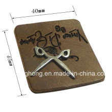 Wholesale Jeans Leather Patch Customized Metal Logo Label