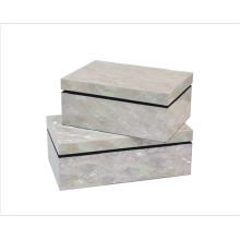 Home decorazione mare Shell Mosaico Box
