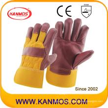 Cuero de la vaca del cuero de los trabajos de la mano Guantes industriales de la seguridad (310071)