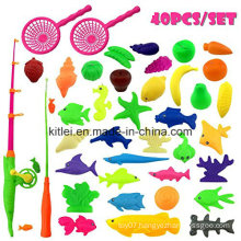 Waterproof Plastic Fish Toys Outdoor Fun Fishing Game Baby