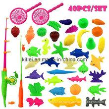 Brinquedos plásticos impermeáveis dos peixes Brinquedo ao ar livre do jogo da pesca do divertimento