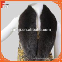 Cuello de piel teñida de piel de zorro real