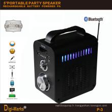 Best-Seller Portable Wireless LED Stéréo Radio stéréo FM Haut-parleur Bluetooth