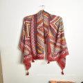 Wholesal beach vacation boho ethnic style shawl polyester scarf