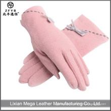 China Wholesale Custom Pink meninas lã luvas