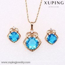 62249 Xuping nice artificial jewelry 18k gold earring and pendant sets