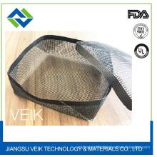 Black Teflon fiberglass heat resistant non-stick BBQ mesh grill basket with various sizes
