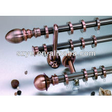 Prismatic design antique copper color aluminium curtain rod
