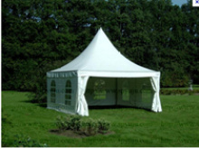 5x5m white outdoor pagoda tent